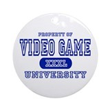Video Game University Ornament (Round)