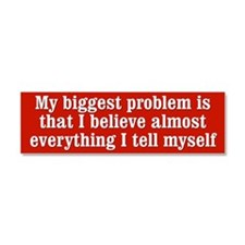 My Biggest Problem Car Magnet 10 x 3