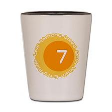 Seven 7 Sins Number Design Shot Glass
