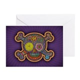 DOD Skull-1c Greeting Cards (Pk of 10)