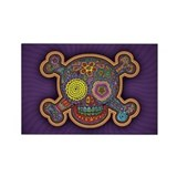 DOD Skull-1c Rectangle Magnet (100 pack)