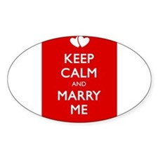 KEEP CALM AND MARRY ME Decal