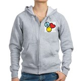 Peace, Love, Softball Zip Hoodie