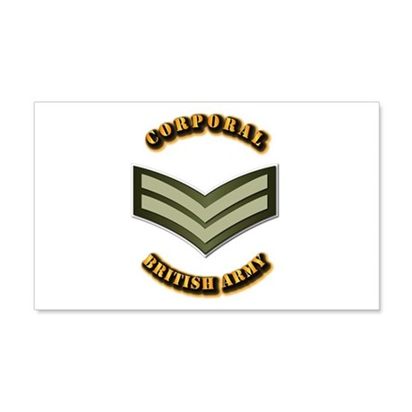 UK - Army - Corporal 20x12 Wall Decal