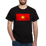 Vietnam Vietnamese Blank Flag Black T-Shirt