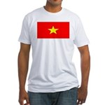 Vietnam Vietnamese Blank Flag Fitted T-Shirt