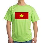 Vietnam Vietnamese Blank Flag Green T-Shirt