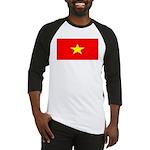 Vietnam Vietnamese Blank Flag Baseball Jersey