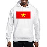 Vietnam Vietnamese Blank Flag Hooded Sweatshirt
