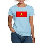 Vietnam Vietnamese Blank Flag Women's Pink T-Shirt