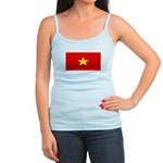 Vietnam Vietnamese Blank Flag Jr. Spaghetti Tank