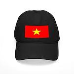 Vietnam Vietnamese Blank Flag Black Cap