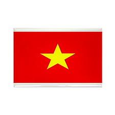 Vietnam Vietnamese Blank Flag Rectangle Magnet (10