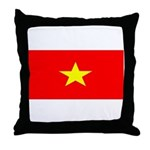 Vietnam Vietnamese Blank Flag Throw Pillow