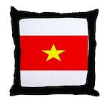 Vietnam Vietnamese Blank Flag Throw Pillow
