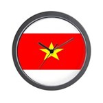 Vietnam Vietnamese Blank Flag Wall Clock