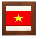 Vietnam Vietnamese Blank Flag Framed Tile