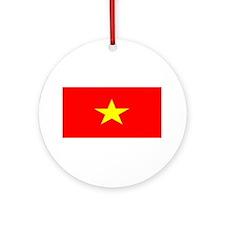 Vietnam Vietnamese Flag Christmas Ornament