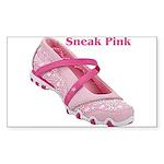 Sneak Pink Rectangle Sticker