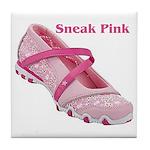 Sneak Pink Tile Coaster