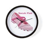 Sneak Pink Wall Clock