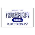 Programming University Rectangle Sticker