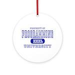 Programming University Ornament (Round)