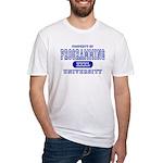 Programming University Fitted T-Shirt