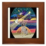 Cute Dog breed christmas art Framed Tile