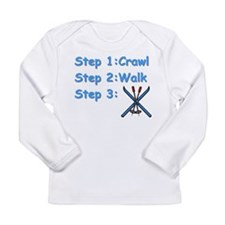 Ski Steps.jpg Long Sleeve T-Shirt