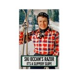 Ski Occam's Razor Rectangle Magnet