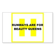 Runways Beauty Queens Rectangle Decal