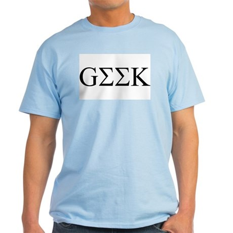 Geek in Greek Letters Ash Grey T-Shirt