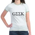 Geek in Greek Letters Jr. Ringer T-Shirt