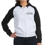 Geek in Greek Letters Women's Raglan Hoodie