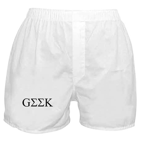 Geek in Greek Letters Boxer Shorts