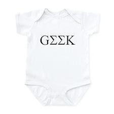 Geek in Greek Letters Infant Bodysuit