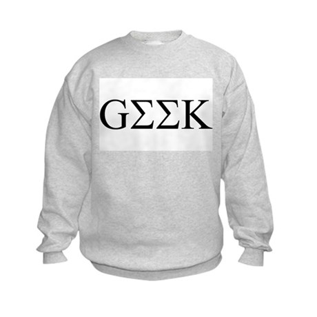 Geek in Greek Letters Kids Sweatshirt
