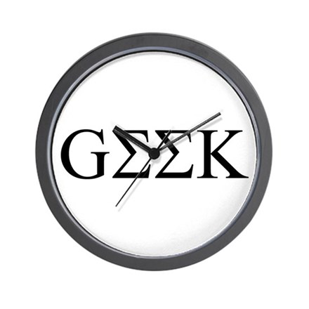 Geek in Greek Letters Wall Clock