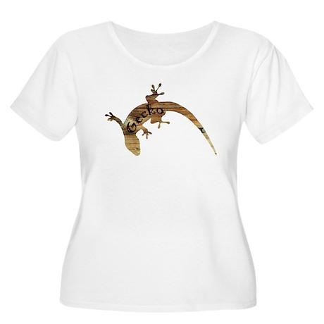 Wooden Gecko Women's Plus Size Scoop Neck T-Shirt