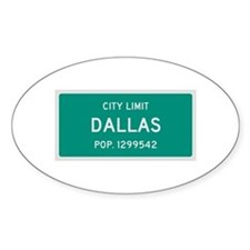 Dallas, Texas City Limits Decal