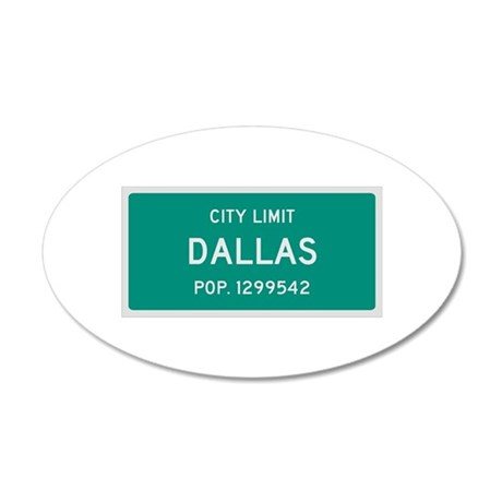 Dallas, Texas City Limits Wall Decal