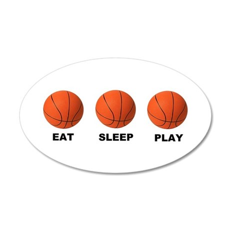 Basketball EAT SLEEP PLAY LITE Wall Decal