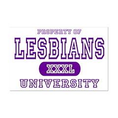 Lesbians University Mini Poster Print