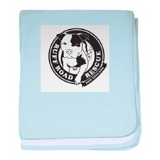 Ruff Road Rescue New England logo baby blanket