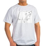 Rat Outline Ash Grey T-Shirt