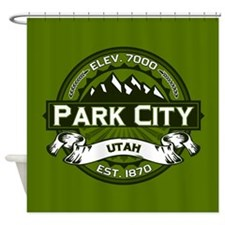 Park City Olive Shower Curtain