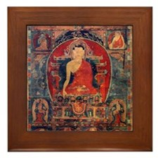 Buddah Ancient Tibet Art Framed Tile