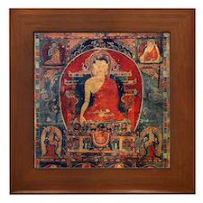 Buddah Ancient Tibet Art Framed Tile