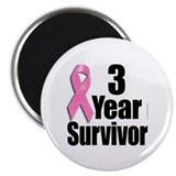 "3 Year Survivor D1 2.25"" Magnet (10 pack)"
